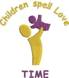 Children Time embroidery design