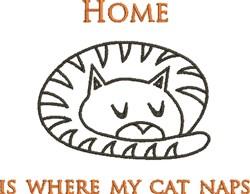 Kitten Nap embroidery design