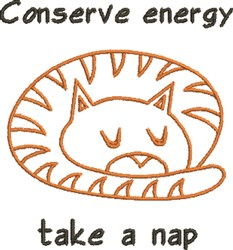 Conserve Energy embroidery design