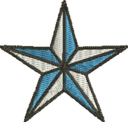 Small Christmas Star embroidery design