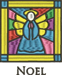 Stained Glass Noel embroidery design