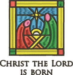 Christ Is Born embroidery design