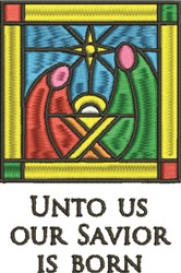 Savior Is Born embroidery design