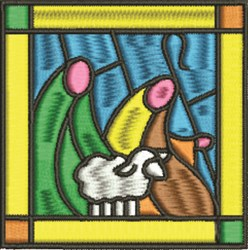 Stained Glass Shepherds embroidery design