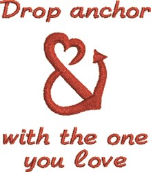 Drop Anchor embroidery design