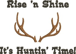 Huntin Time embroidery design