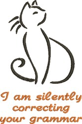Silent Cat embroidery design