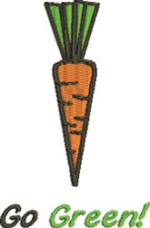 Go Green Carrot embroidery design