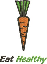 Eat Healthy Carrot embroidery design