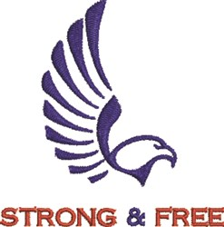 Strong & Free embroidery design