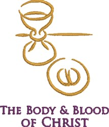 Body & Blood embroidery design