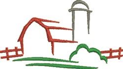 Farm Outline embroidery design