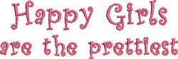Happy Girls embroidery design