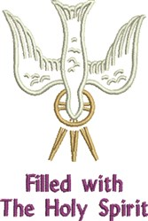 Holy Spirit Filled embroidery design