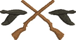 Hunting Ducks embroidery design