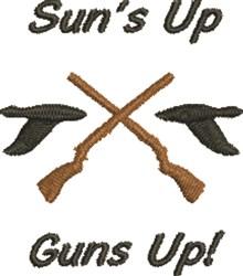 Guns Up embroidery design