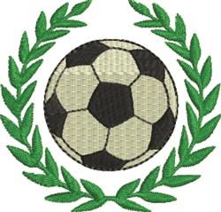 Laurel Soccer Ball embroidery design