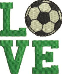 Love Soccer embroidery design