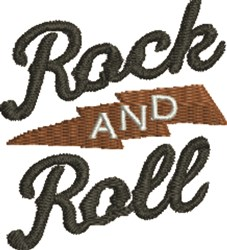 Rock And Roll embroidery design