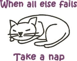 Take A Nap embroidery design