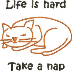 Life Is Hard embroidery design