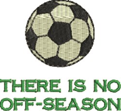 Soccer Off-Season embroidery design