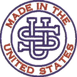 Made In United States embroidery design