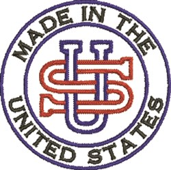 Made In US embroidery design