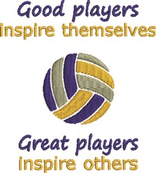 Volleyball Players embroidery design