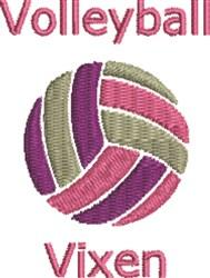 Volleyball Vixen embroidery design