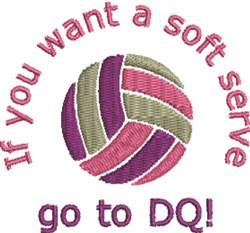 Volleyball Serve embroidery design