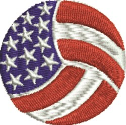 Volleyball USA embroidery design