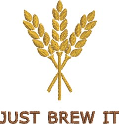 Just Brew It embroidery design