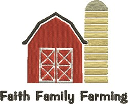 Family Faith Farming embroidery design