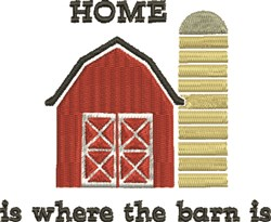 Where Barn Is embroidery design