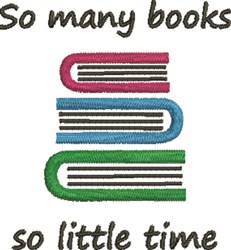 So Many Books embroidery design