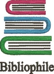 Bibliophile embroidery design