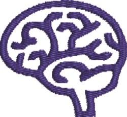 Brain Outline embroidery design