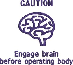 Engage Brain embroidery design