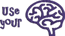 Use Your Brain embroidery design