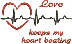 Heart Beating embroidery design