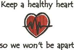 Healthy Heart embroidery design