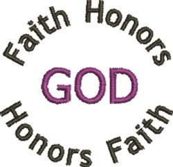 Faith Honors God embroidery design