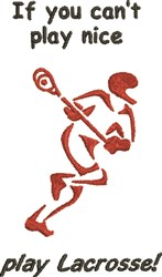 Play Lacrosse embroidery design