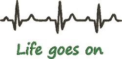 Life Goes On embroidery design