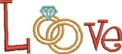 Love Rings embroidery design