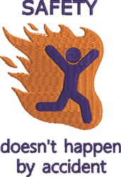 Safety Accident embroidery design