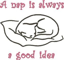 A Nap embroidery design