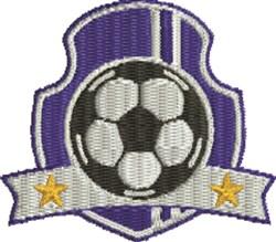 Blue Soccer Insignia embroidery design