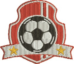 Red Soccer Insignia embroidery design